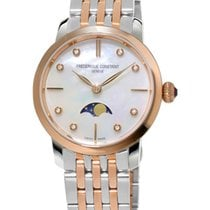 Frederique Constant Slimline Moonphase Steel Mother of pearl