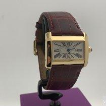 Cartier Tank Divan Žluté zlato 26mm Bílá Římské