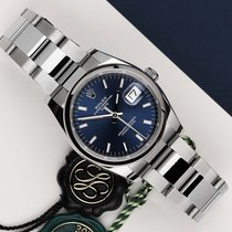 Rolex Oyster Perpetual Date Steel 34mm Blue