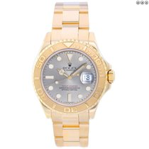 Rolex Yacht-Master pre-owned 40mm Silver Date Yellow gold