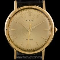 Rolex 35mm Automatic 1953 pre-owned Oyster Precision Gold