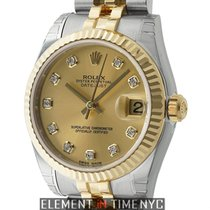 Rolex Lady-Datejust 178273 Unworn Gold/Steel 31mm Automatic