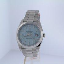 Rolex DAY-DATE 40 PLATINUM ICE BLUE DIAGONAL 228206
