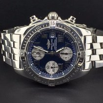 Breitling Chrono Cockpit 39mm Steel Blue Roman Numeral Dial...