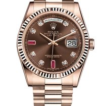 Rolex Oyster Perpetual Day-Date Ruby and Diamond Dial