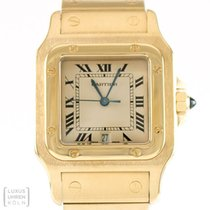 Cartier Uhr Santos Quarz 750er Gold Unisex