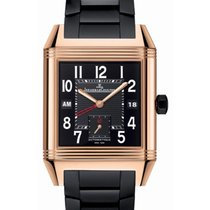 Jaeger-LeCoultre Reverso Squadra Hometime Rose gold 41mm Black