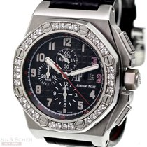 Audemars Piguet White gold Automatic Black Arabic numerals 51mm pre-owned Royal Oak Offshore Chronograph