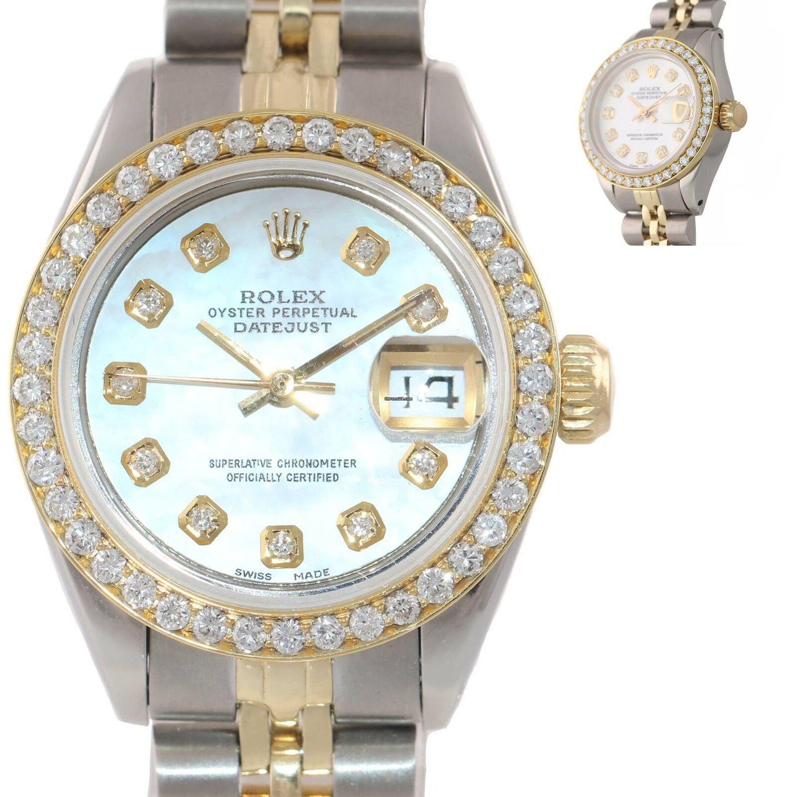 3584b98f846 Rolex Ladies Rolex DateJust 26mm 6917 Two Tone 14k Gold Steel... à vendre  pour 2.729 € par un Trusted Seller sur Chrono24