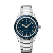 Omega Platinum Automatic Blue Arabic numerals 41mm new Seamaster 300