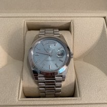 8731bff5a1c Rolex Platinum Automatic 40mm pre-owned Day-Date 40. TOP. Rolex DAYDATE 40MM  PLATINUM PRESIDENT 228206 ICE BLUE MOTIF.