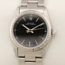 Rolex Oyster Perpetual 31 67514  Weissgold Stahl Mid Size Perpetual schwarz black 1996 usados