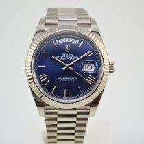 Rolex Day-Date 40 Witgoud 40mm Blauw Romeins Nederland, Franeker