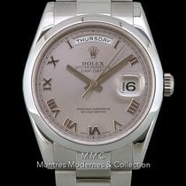 Rolex Day-Date 36 Or blanc 36mm Argent Romain France, Paris