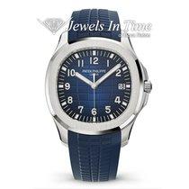 Patek Philippe White gold Automatic Blue 42.2mm new Aquanaut