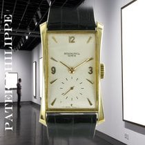 Patek Philippe Hour Glass Yellow gold 41mm Silver No numerals