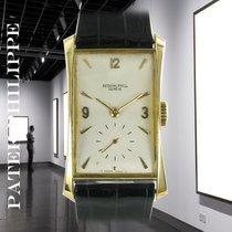 Patek Philippe Hour Glass Oro amarillo 41mm Plata Sin cifras