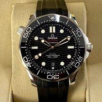 Omega Seamaster Diver 300 M Stahl 42mm Schwarz Keine Ziffern
