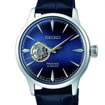 Seiko Presage Acél 40.5mm Kék Számjegyek nélkül