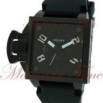 Welder Men's Analog, Black Dial - Black Ion-Plated Stainless...