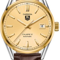 TAG Heuer Carrera Calibre 5 Goud/Staal 39,00mm Champagne