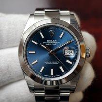 Rolex Datejust 41 Blue Index Dial Oyster Bracelet 126300 NEW