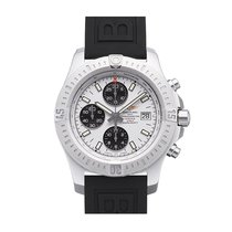 Breitling Colt Chrono Automatic Silver Dial Rubber Strap...