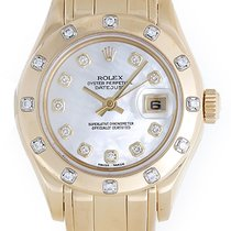 Rolex Ladies Pearlmaster Yellow Gold & Diamond Watch 69318