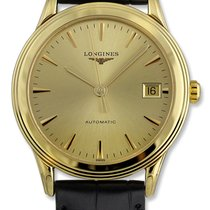 Longines Flagship Automatic 18kt Gold Mens Strap Watch...