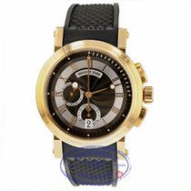 Breguet Rose gold Automatic Black Roman numerals 42mm pre-owned Marine