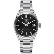 TAG Heuer Carrera Calibre 5 Steel 39mm Black No numerals
