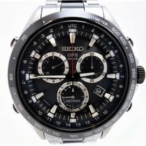 Seiko Astron GPS Solar Steel 44.5mm Black