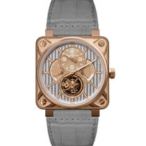 Bell & Ross Rose gold Manual winding No numerals 46mm new BR 01