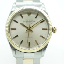Rolex Air King Precision Gold/Steel 34mm Champagne No numerals