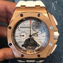Audemars Piguet Royal Oak Offshore Tourbillon Chronograph Roségold 44mm Weiß Keine Ziffern