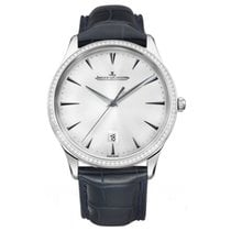 Jaeger-LeCoultre Master Ultra Thin Date Oro blanco 40mm Plata Sin cifras