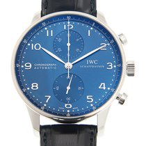 万国  (IWC) Portuguese Stainless Steel Blue Automatic IW371491