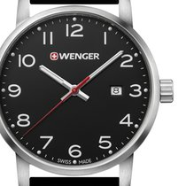 Wenger Steel 42mm Quartz 01.1641.101 new