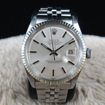 Rolex DATEJUST 1601 SS ORIGINAL Silver Dial with Folded Jubilee