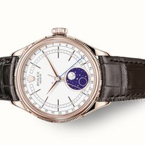 Rolex Cellini Moonphase Oro rosa 39mm Bianco