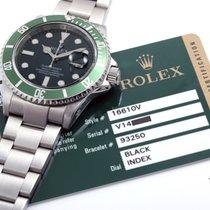 "Rolex 2010 SS 50th Anniversary ""Kermit"" Submariner w/ Box & Card"