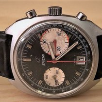 Enicar Chronograph 37mm Manual winding 1960 pre-owned Sherpa Black