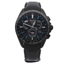 Seiko Astron GPS Solar Chronograph Steel 45mm Black No numerals