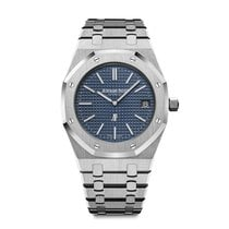 Audemars Piguet Royal Oak Jumbo Steel 39mm Blue No numerals United States of America, Iowa, Des Moines