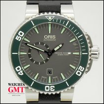 Oris Aquis Small Second pre-owned 46mm Grey Date Rubber