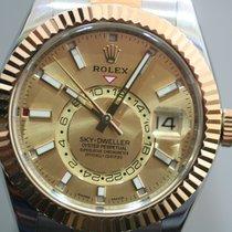 Rolex Sky-Dweller Acero y oro 42mm Champán Sin cifras