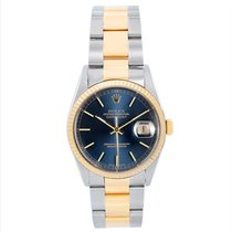 Rolex Datejust pre-owned 36mm Blue Date Gold/Steel