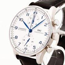 IWC Portugieser Chronograph Edelstahl Ref. 371446 mit 2 Jahren...