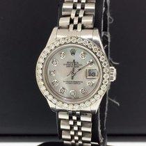 Rolex Datejust Ladies 26mm 69240 1.2ct Diamond Bezel &...