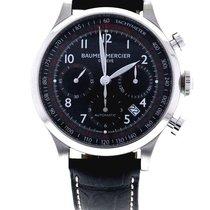 Baume & Mercier Capeland Chronograph Black Dial Tachymeter...